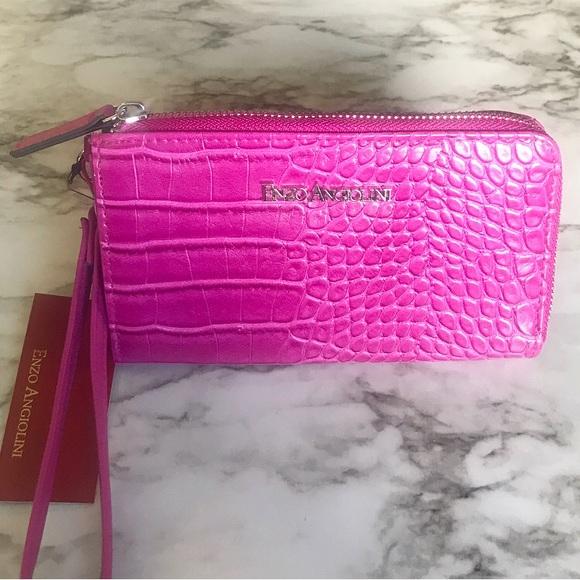 Enzo Angiolini Fuchsia PINK Wallet/Wristlet